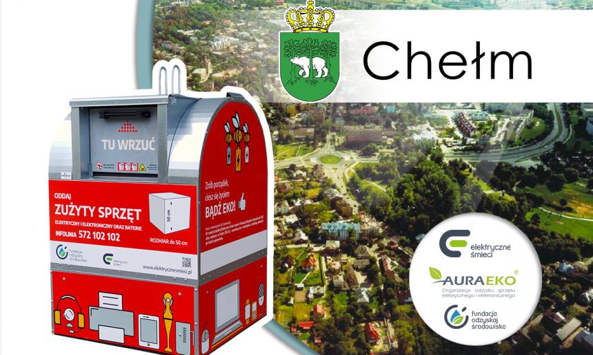 Czerwone pojemniki na elektryczne śmieci debiutują w Chełmie!