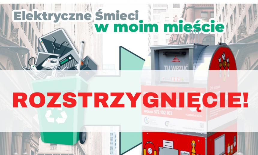 """Konkurs """"Elektryczne Śmieci w moim mieście"""" Edycja 2020 – ROZTRZYGNIĘCIE!"""
