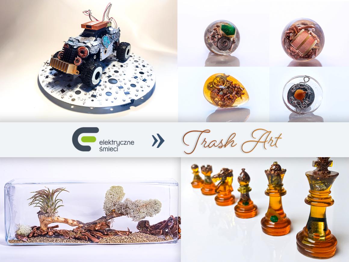 Trash Art – Elektryczne śmieci jako dzieła sztuki!